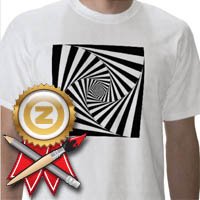 zazzle award black and white t-shirt design
