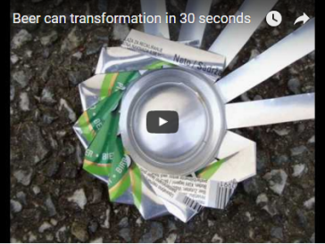 Beer can transformation in 30 seconds