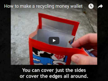 How to make a recycling money wallet